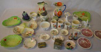 Quantity of ceramics including Winnie the Pooh mugs, Spode, Royal Worcester,
