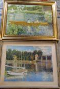 Framed Renoir & Monet prints