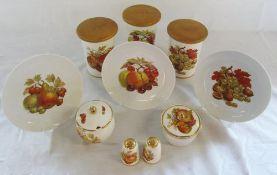 Crown Devon Fieldings kitchenware & 3 plates by Tirschenreuth Bavaria Germany