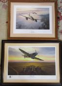2 limited edition prints by Mark Postlewaite 'Air Aces' 62 cm x 51 cm and 'Test of time' no 389/500