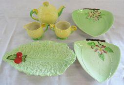 Selection of Carton ware inc 'Australian' pattern teapot,