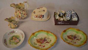 Various ceramics including 2 jugs