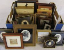 Selection of silhouettes and miniature pictures,