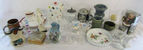 Various ceramics and glassware inc Buckingham Palace,