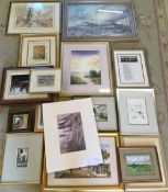 Various framed prints & watercolours