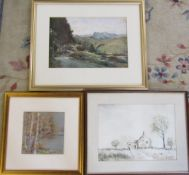 Rural watercolour signed 'Dennis',