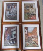 4 framed cat prints by Paul Yeomans 51.
