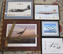 Assorted aviation prints inc limited edition print by Mark Postlewaite 'Pride of the West Country'