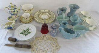 Assorted ceramics etc inc Wedgwood & Aynsley