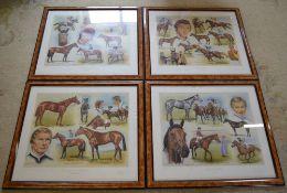 4 Lester Piggott limited edition montage prints