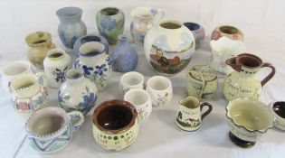 Assorted vases and jugs by Conwy Pottery, Poole, Masons,