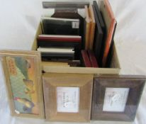 Selection of new/unused picture frames and prints
