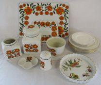 Selection of Taunton Vale kitchen ceramics etc & Royal Worcester dinner plates etc