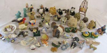 Quantity of miniature birds and animal figures