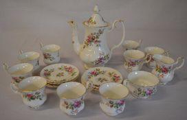 Royal Albert 'Moss Rose' part tea set (AF)