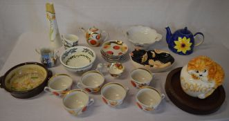 Various ceramics including a Royal Albert Old Country Roses cup, Portmeirion Botanical Gardens,