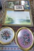 Assorted tapestries and pictures