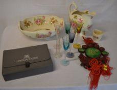 Various ceramics, Linguaphone,