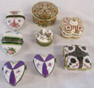 Selection of trinket pots and lidded pots inc Royal Crown Derby
