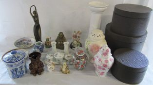 Various ceramics inc dressing table set, Buddha,