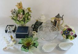 Assorted ceramics and glassware inc Wade and Royal Worcester