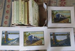 Selection of books & Rocky Mountaineer prints