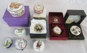 Assorted trinket boxes inc Royal Crown Derby & Royal Worcester
