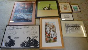 Various prints and pictures