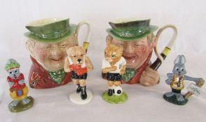 2 Beswick 'Tony Weller' character jugs,