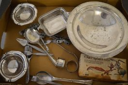 Various silver plate and stainless steel
