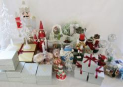 2 boxes of assorted new Christmas ornaments and decorations
