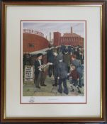 Limited edition framed print 'Before the match' by Tom Dodson no 347/500 44 cm x 50 cm (size