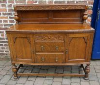 Early 20th century oak sideboard