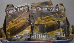 Collection of Hachette 'Tiger Tank - Build the model and discover the history of tanks' partwork