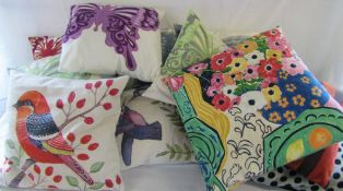 Assorted cushions