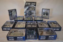 Approx 14 Star Trek Eaglemoss ship figures from 'The Official Starship Collection'