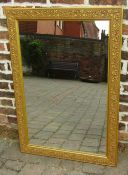 Large gilt framed mirror 75 cm c 107 cm