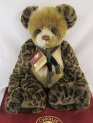 Modern jointed teddy bear by Charlie Bears 'Chit chat' designed by Isabelle Lee L 60 cm
