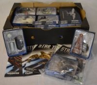 Various star trek magazines and collectable figures