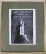 Framed David Hockney lithographic poster 'Grimm's Fairy Tales' 46 cm x 54 cm (size including frame)