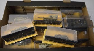 Box full of 'The Combat Tank Collection' models