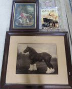 Large black and white photograph of a working horse - Longforth King Cole 30643,