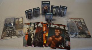 Small quantity of Dr Who eaglemoss figures and magazines