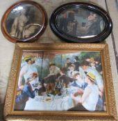3 framed prints inc Renoir