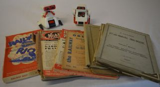 2 vintage Tomy robots including FlipBot and various books