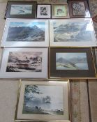 Assorted prints and pictures inc Jean Vaughan & Anthony Cain