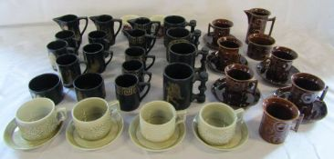 Various Portmeirion cups and saucers etc inc Greek Key, Phoenix,
