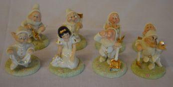 Lenox Disney Showcase figures set of Snow White & 7 Dwarfs