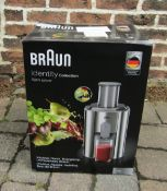 Braun Identity Collection spin juicer (plug requires fuse and cover)