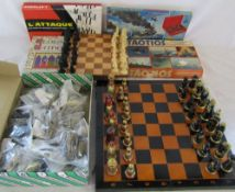 Selection of board games & chess boards and pieces